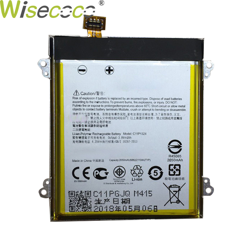 Wisecoco 2PCS 2050mAh C11P1324 Battery For <font><b>ASUS</b></font> <font><b>ZenFone</b></font> <font><b>5</b></font> Z5 <font><b>A500CG</b></font> <font><b>A501CG</b></font> A500KL T00F T00J High Quality With Tracking Number image