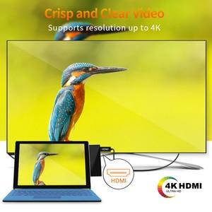 Image 4 - Концентратор Rocketek 4K HDMI и usb 3,0 кардридер/1000 Мбит/с гигабитный Ethernet адаптер для SD/TF micro SD Microsoft Surface Pro 3/4/5/6