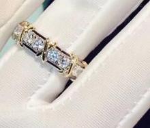 T747 925 стерлингового серебра кольцо для женщин Свадебные обручение размеры