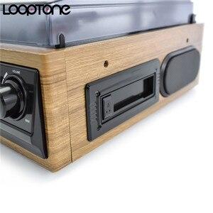 Image 4 - LoopTone 3 מהירות Bluetooth פטיפון ויניל שיא נגן מובנה רמקולים גרמופון AM/FM רדיו קלטת LP USB/ SD מקליט
