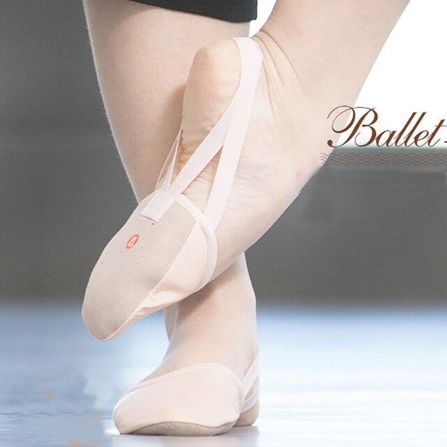 f55d27a6d TIEJIAN EU35-42 Half Sole Non-slip Stretch Soft Exercise Rhythmic  Gymnastics Women Ballet Yoga Shoes Women's Belly Dance Shoes
