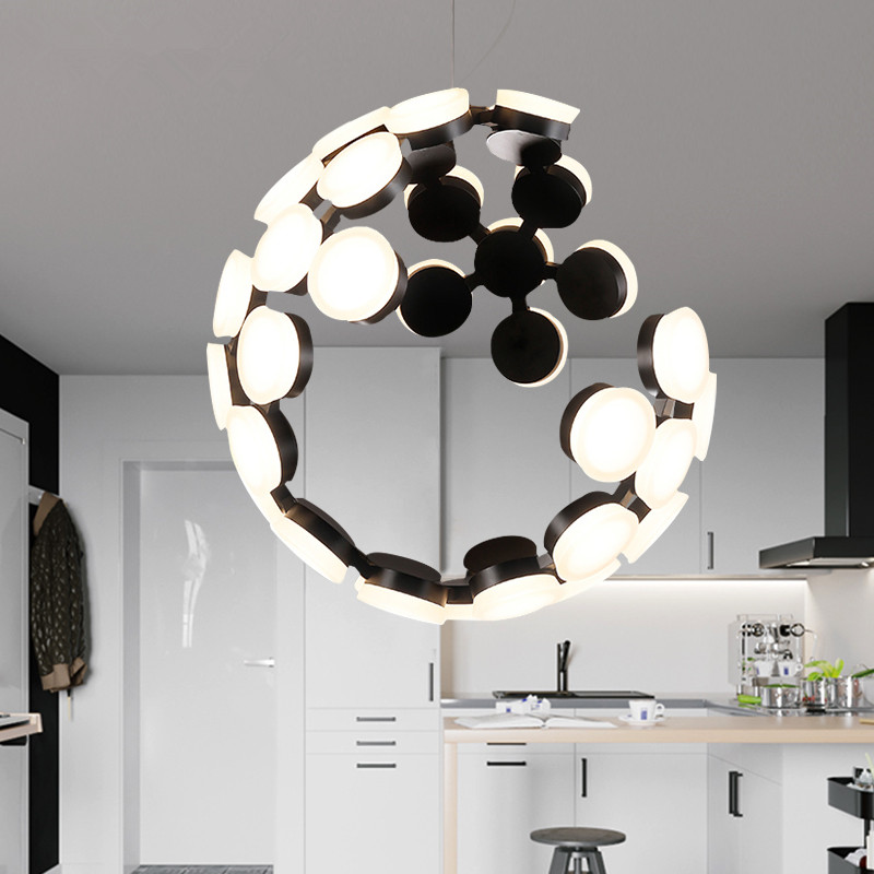 Modern LED Lampada Scopas White Black Pendant Lights Globe Lamp Fixture Home Indoor Lighting Dining Room Restaurant Foyer Club гиппократ сочинения в 3 х томах том 1