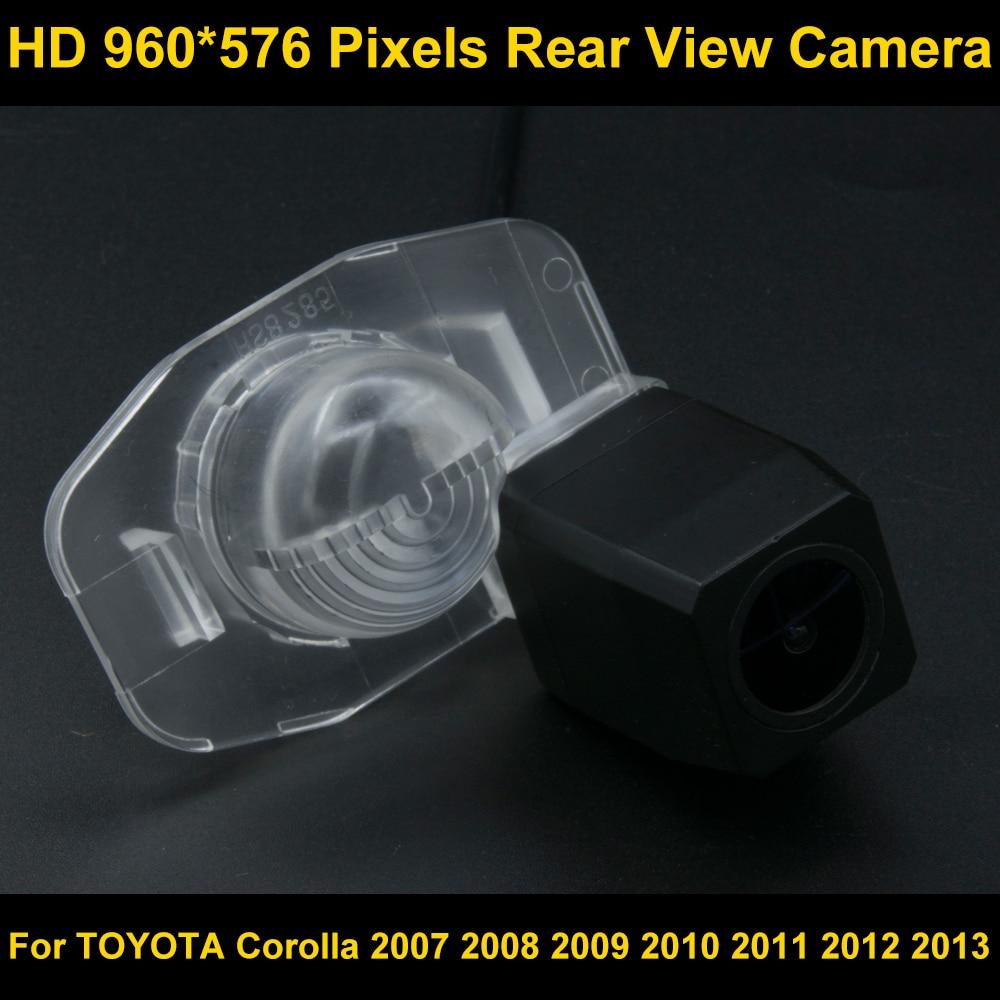 PAL HD 960*576 Pixels Car Parking Rear view Camera for Toyota Corolla 20072008 2009 2010 2011 2012 2013 Waterproof