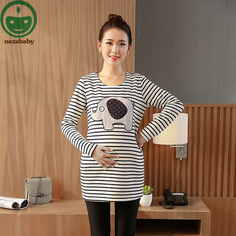 cotton Striped Pregnancy Maternity Clothes Maternity Tops/T-shirt Breastfeeding Shirt Nursing Tops for Pregnant women MS03 green home two layers maternity nursing tops for pregnant women breastfeeding pregnancy t shirt funny fashion maternity clothing