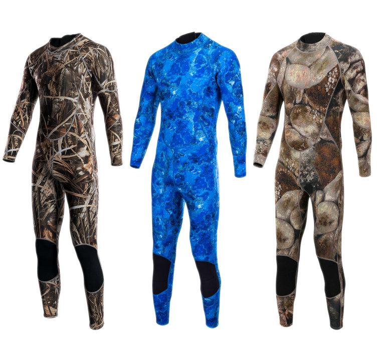 3mm Camouflage Diving Suit Warm Swimsuit Thickening Male Jellyfish Clothing