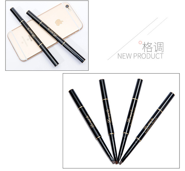 Professional Double-end Eyebrow Pencil Makeup Waterproof Eyebrow Black Brown Natural Eyebrow Pen with Brush Make Up Cosmetics 3