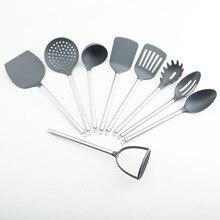 2016 neue Küche Liefert 9 stücke Nylon Geschirr Set MIT Neun Funktion Kochen Werkzeuge Setzen Gute Küche Helfer Heißer Verkauf