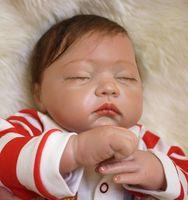 Sudoll About 20 Reborn Soft Silicone Vinyl Doll Handmade Lifelike Newborn BB Close Eyes Doll