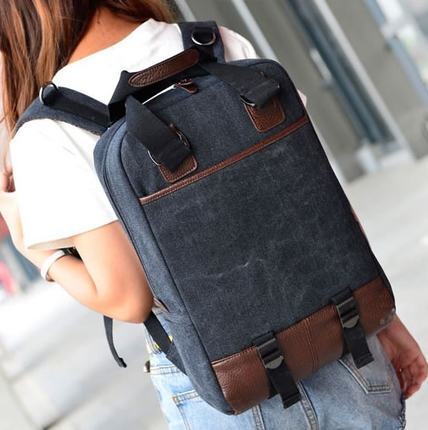 High Quality Canvas 17 Inch Laptop Backpack Men Women Computer Notebook Bag 3 15 6 In Bags Cases From Office On