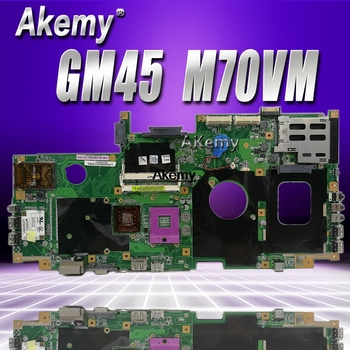 X71A Laptop motherboard for ASUS M70VM  M70VN M70V Test original mainboard GM45 Integrated graphics