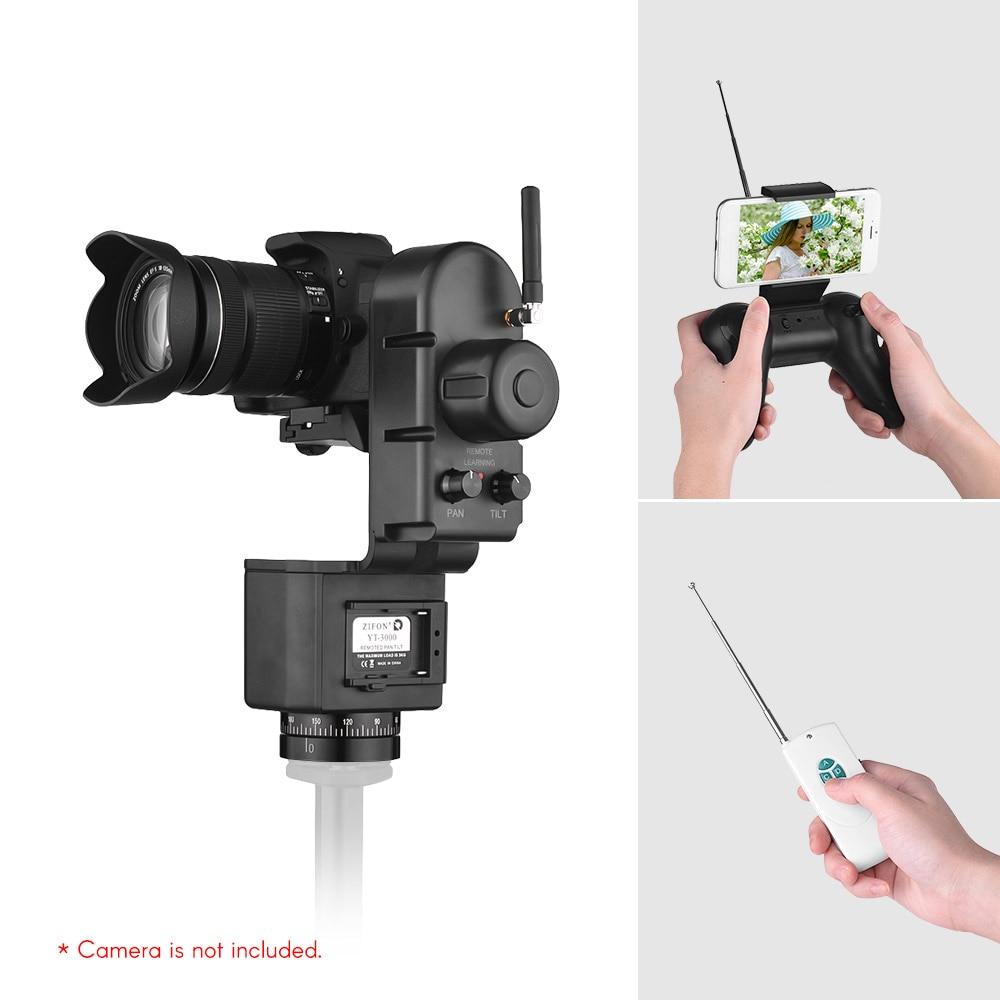 ZIFON YT 3000 50m Remote Control Electronic Pan Tilt Head for Canon Nikon Sony DSLR WiFi