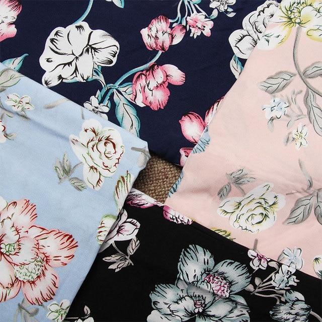 Flores tela patrón estilo Retro tela percal tejido de algodón ...