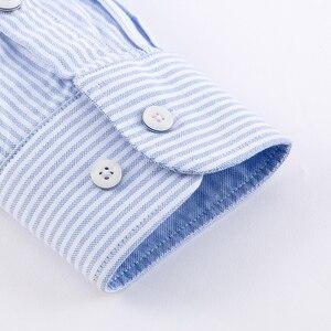 Image 4 - 2018 ใหม่มาถึงชายเสื้อแบรนด์หรูแขนยาวผ้าฝ้ายชายเสื้อชุดแฟชั่น Slim ลายลำลองเสื้อผู้ชาย
