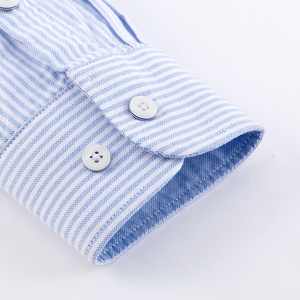 Image 4 - Chemise à manches longues pour homme, de marque, en coton, tenue formelle, Slim, rayée, collection 2018, collection nouveauté