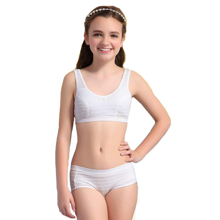 preteen girls underwear WoFee Puberty Girl Underwear Set Teenage Cotton Underwear For Young Girl  S1041(China (Mainland