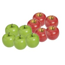10pcs Mini Apple Decoration Artificial Party Christmas Wedding Home  Furnishings Cognitive Toys Simulation Foam Berry Redu0026green