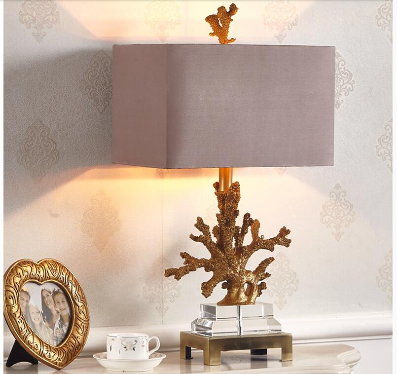 Free Shipping Coral Table Lamp Living Room Mediterranean Bedroom Bedside Table Lights Fabric Lampshade W36cm H68cm Home LightingFree Shipping Coral Table Lamp Living Room Mediterranean Bedroom Bedside Table Lights Fabric Lampshade W36cm H68cm Home Lighting