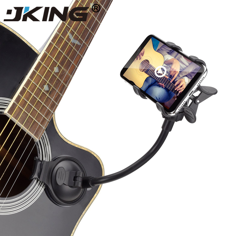 JKING Phone Holder Stand for Guitar Street Singing lyrics Song Car Holder Sucker Suction Cups Musicians Guitar Stand Car Holder ...