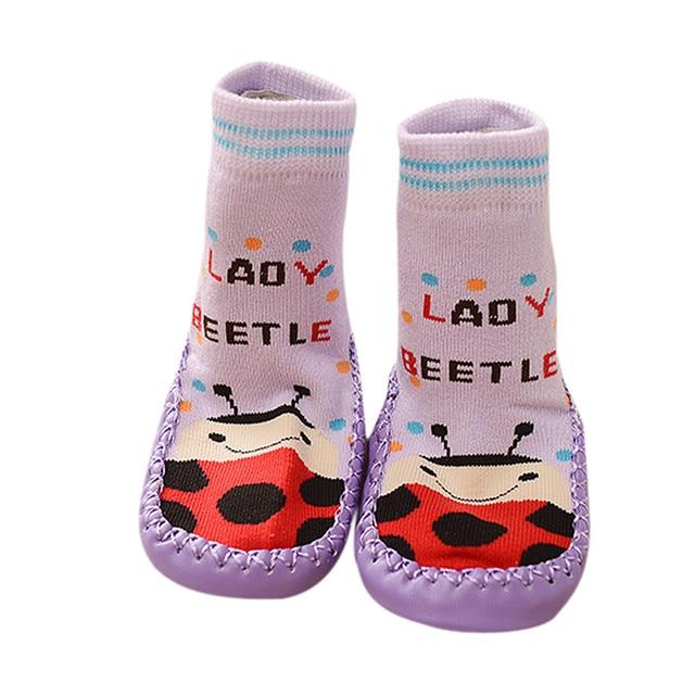 official photos f7caa e83b5 US $2.19 20% OFF|Für 6 18 monate baby Anti slip Socke Schuhe Stiefel  Pantoffel Socken baby sneaker socken Unisex Baumwolle meia antiderrapante  ...