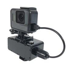 5200mAh قوة البنك 30 متر مقاوم للماء بطارية خارجية البنك ل GoPro بطل 7/6/5/4/3/3 شاومي يي 4K SJCAM عمل كاميرا الملحقات