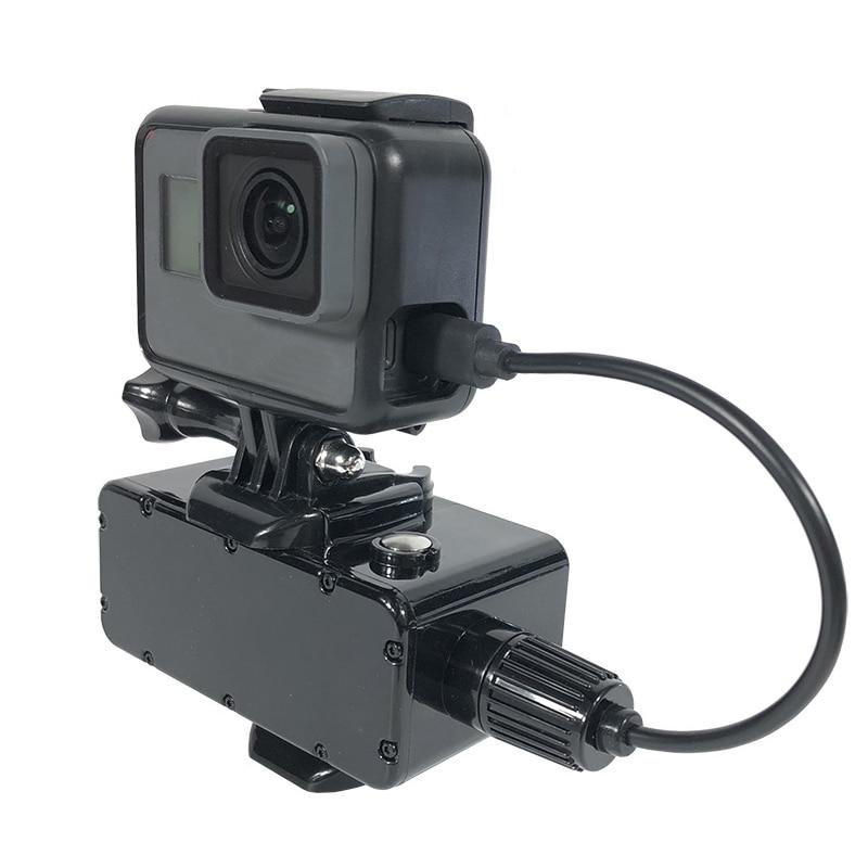 5200mAh Power Bank 30M Waterproof External Battery Bank For GoPro Hero 7/6/5/4/3+/3 Xiaomi Yi 4K SJCAM Action Camera Accessories