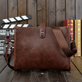 The trendy small men crazy horse Leather male Bag Shoulder Messenger Bag casual small bag retro cross iPad bag