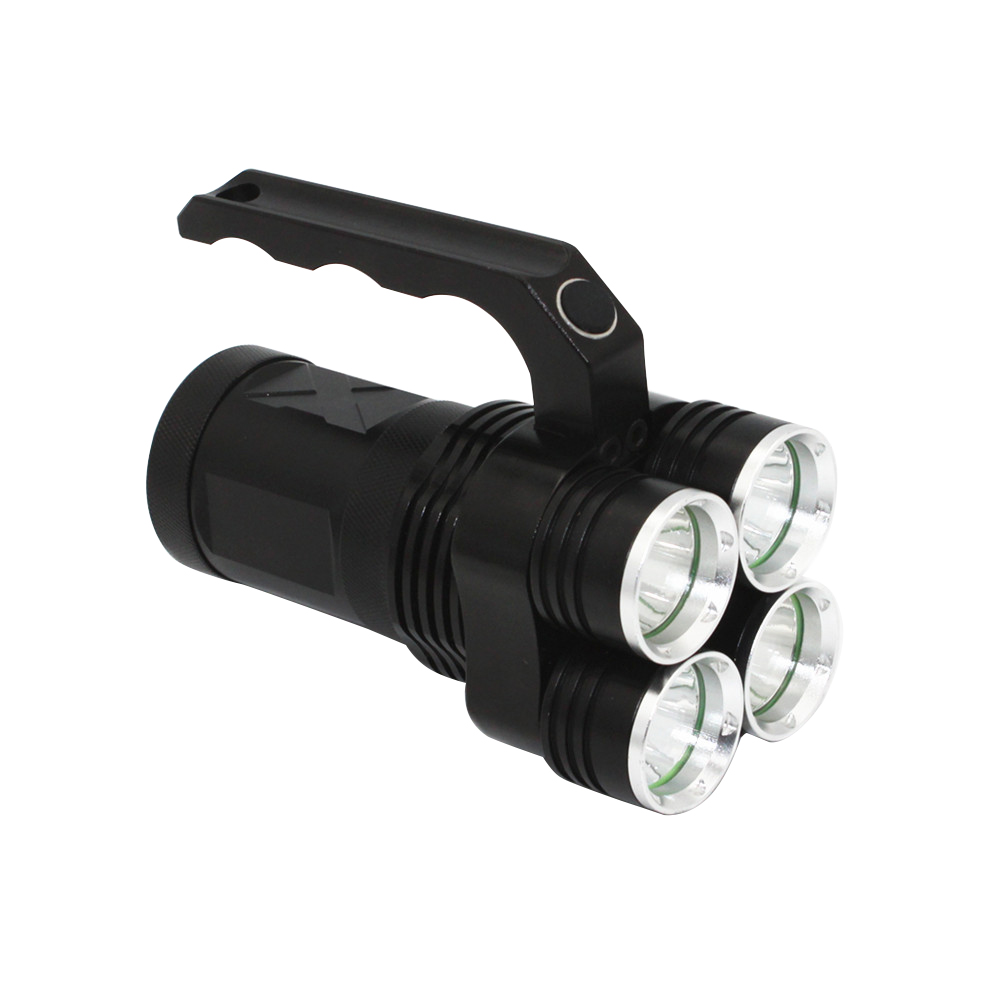 4500LM LED Flashlight 4 * XM-L2 Spotlight Searchlight Torch Super bright Tactical Camping Hunting Light outdoor super bright rechargeable hunting flashlight cree xml l2 60w led portable spotlight with hight middle flash model
