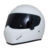 Universal White Motorcycle Helmet DOT Certification Fiberglass Shell Street Bike Racing Motorbike Riding Helmet S M
