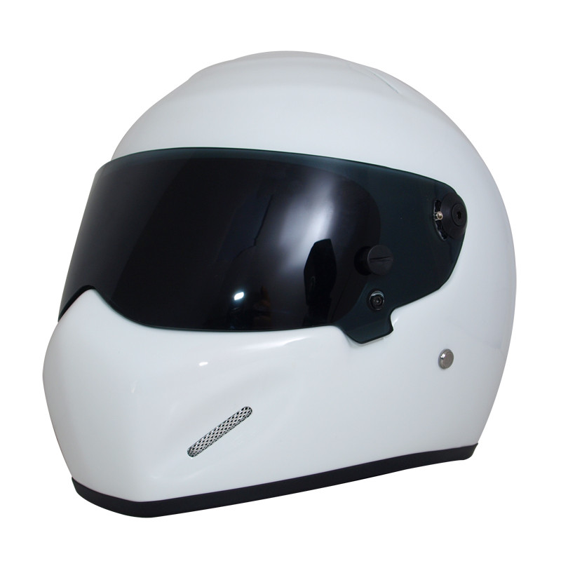 Universal White Motorcycle Helmet DOT Certification Fiberglass Shell Street Bike Racing Motorbike Riding Helmet S M L XL XXL universal bike bicycle motorcycle helmet mount accessories