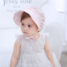 Summer Cool Newborn Cap Baby Palace Princess Style Cotton Hat  Outdoor Beach Cute Toddlers Infant Kids Girls Headwear