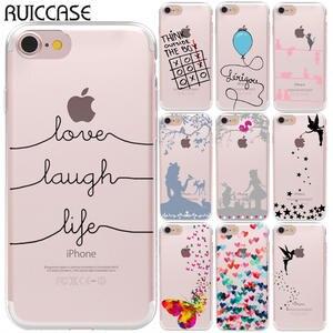 e8865df1fa2166 Love Laugh Life Soft TPU Silicone Case For Coque iPhone 5 5S SE 6 6 S 7 8  Plus X