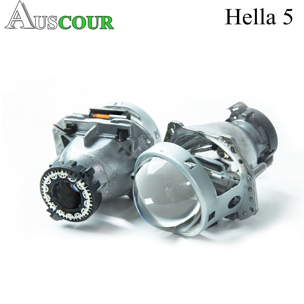2 pcs 3.0 inch hella 5 car Bi xenon hid Projector lens metal holder D1S D2S D3S D4S hid xenon kit bulb headlight car assembly new m803 2 5 car motorcycle universal headlights hid bi xenon projector kit and m803 hid projector lens for free shipping