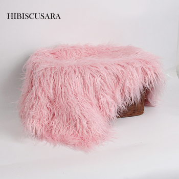 80 x 50cm Newborn Baby Infant Photo Blanket Fake Fur Rug Blankets Plush Photography Background Props Basket Stuffer Filler