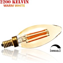 15W 25W 35W Incandescent Equal 220V 230V 240V Dimmable 2W 4W 6W C35 Torpedo/B35 E14 Small LED Candle Filament Edison Light Bulb