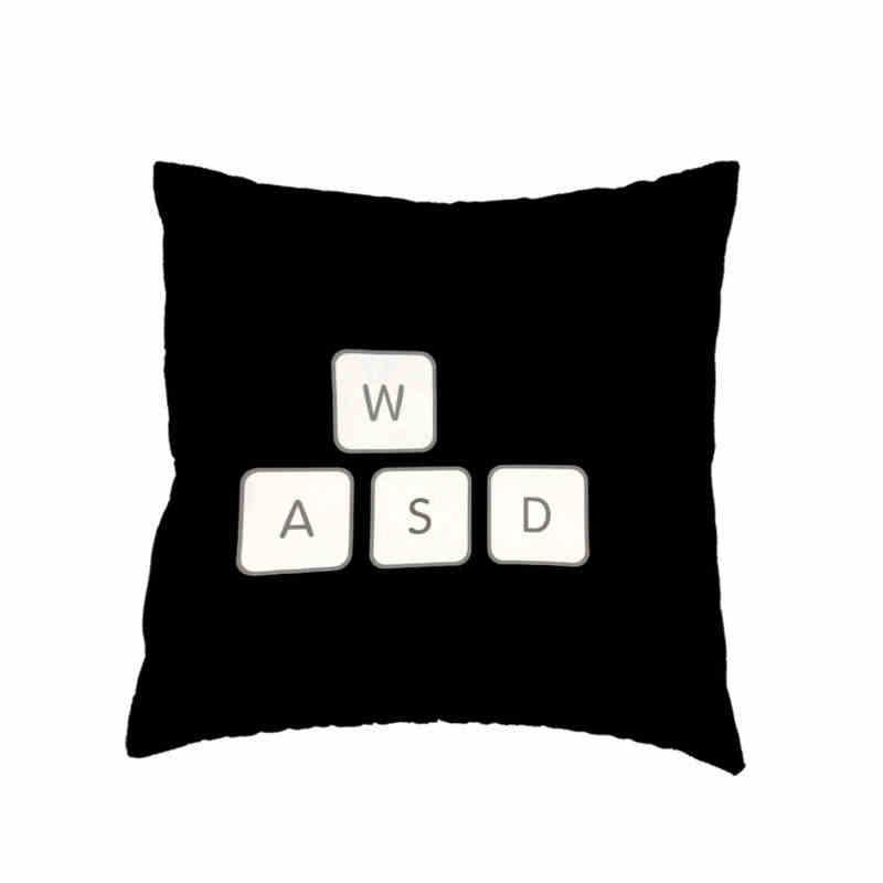 Lustige Kissen Abdeckung Abstrakte Freelancer Spiel controller Spiel Tastatur Maus Werfen Kissen Fall Hause Büro Sofa Auto Sitz Schmücken