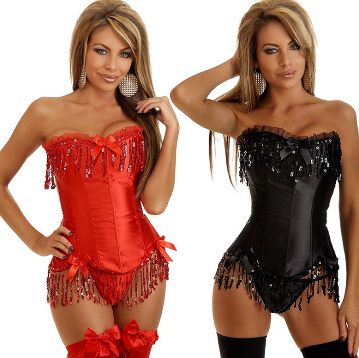 2015 NEW shiny tassels lace Sexy lingerie Waist Workout Cincher underbust Body font b Shaper b