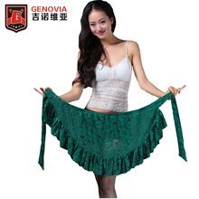 New Arrival 2017 Belly Dance Tribal Costume Flower Triangle Hip Scarf wrap Belt Skirt 6 colors