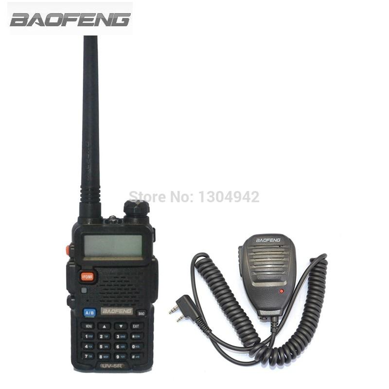 BAOFENG UV-5R VHF/UHF Dual Band Ham Portable Two Way Radio Amateur Walkie Talkie +Brand Baofeng Speaker MIC