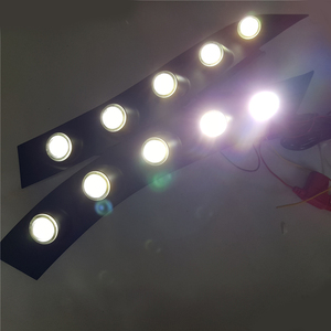 Image 2 - 2x 자동차 전용 화이트 led drl 주간 러닝 ligh 프론트 안개 범퍼 램프 닛산 juke 2013 2012 2011