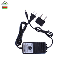 Adjustable DC 3-24V 2A or 3-12V 1A Adapter Power Supply Charge for Mini Motor Hand Drill Speed Controller US with EU Plug In