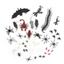 44pcs/set Mixed Insect Reptile Scorpion Mouse Model Kids Bag Gift Novelty Animal Toy High Quality(China)