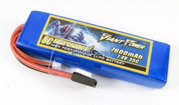 Frete grátis 2 s 7.4 v/7600 mah 35c lipo bateria para traxxas, hpi, fluxo grande capacidade de alta taxa lipolyer rc hobby peças