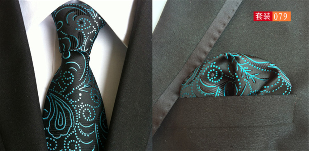 Realistic Cityraider Green Paisley Print New Gifts Mens Silk Necktie Ties For Men Neckties Pocket Square With Match Tie 2pcs Set Cr016 Men's Ties & Handkerchiefs