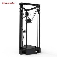 Micromake 3d-принтер Шкив Версия Руководство DIY Kit Коссель Дельта Авто Выравнивания Большой Размер Печати 3d-металл Принтер