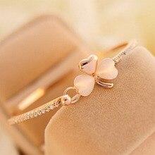 Bowknot Peach Leaf Gold Bangles Bracelets Female Jewellery Charms Golden Heart Bracele Wedding Bracelet for Women Bijoux WD168