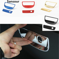 Sansour 2PCS ABS Plastic Glove Box Handle Cover Interior Chromed Accessories for Jeep Wrangler 2008 2016