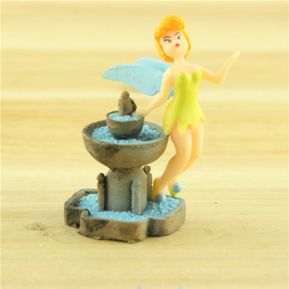 3Pcs/Set Resin Fountain Miniature Bonsai Garden Decor Micro Landscaping Ornament