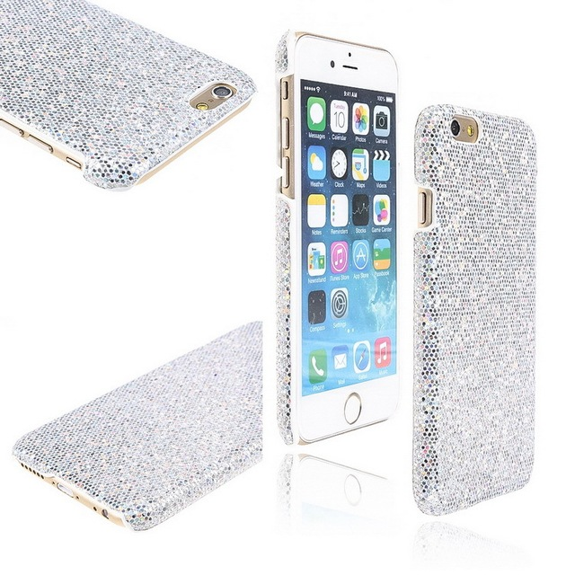 2015 New TPU Phone Case For Apple IPhone 6 47 Silver Color Glitter Cases