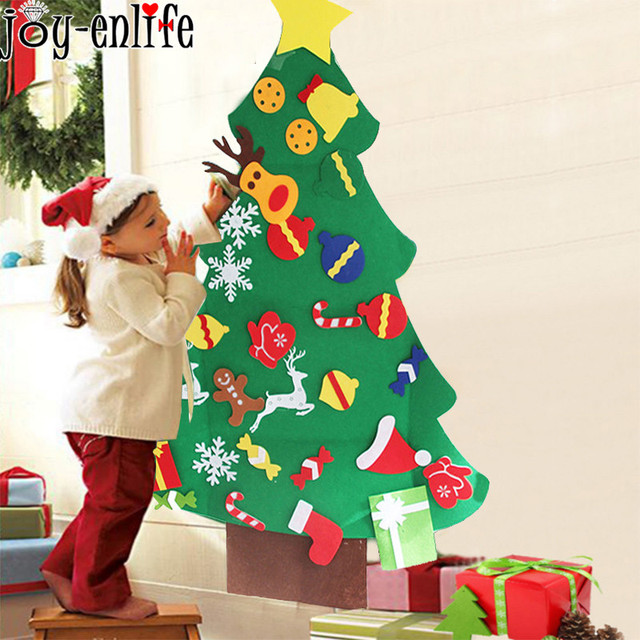 New Year Gifts Toddler Diy Felt Christmas Tree Decorations Christmas