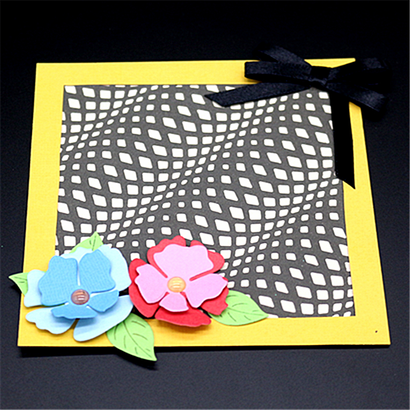 AZSG Square Wavy Hollow Out Cutting Die for DIY Scrapbooking Decoretive Embossing Stencial DIY Decoative Cards die cutter in Cutting Dies from Home Garden
